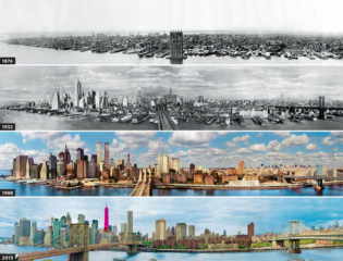 NY skyline evolution